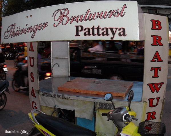 Thüringer Bratwurst in pattya moped